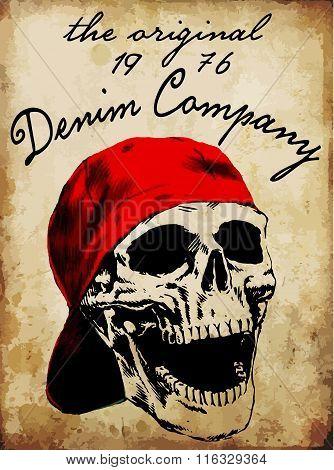 Tee Graphic Skull Vector  Fashion T Shirt Vector Design