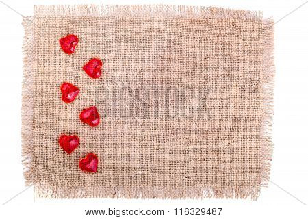 Red Hearts On A Sacking