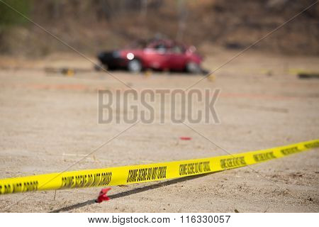 Crime Scene  Explosion Vehicle