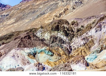 Artists Point Along Artists Drive, Death Valley National Park, Usa