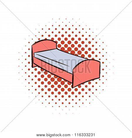Single bed comics icon