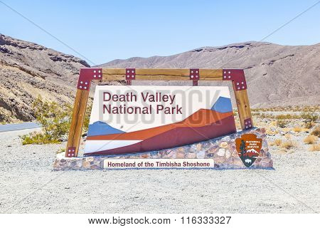 Park Sign Death Valley National Park