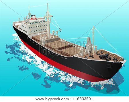 Lumber Vessel Cargo Ship Ocean Waves