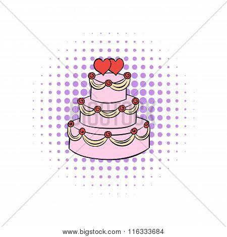 Wedding cake comics icon