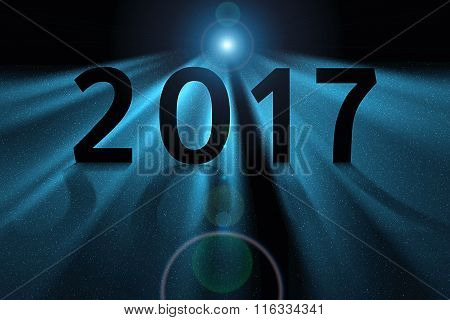 Blue Concept For 2017 In Deep Space