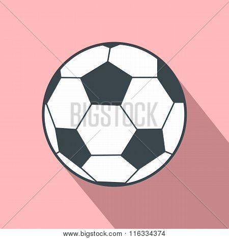 Soccer ball flat icon
