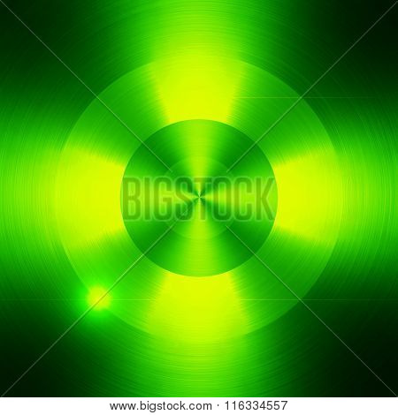 green metal with round pattern