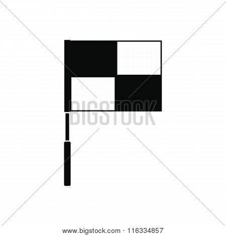 Flag on flagpole black simple icon