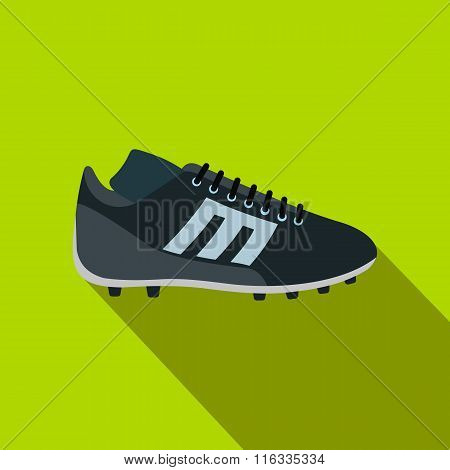Sport shoe with cleats flat icon