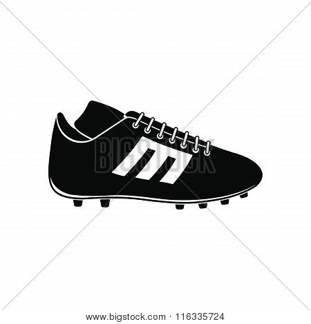 Sport shoe with cleats icon
