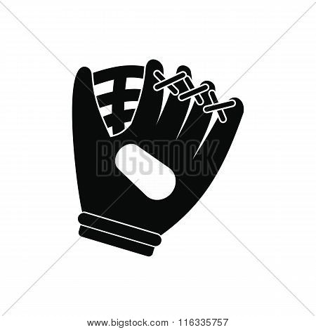 Baseball glove black simple icon