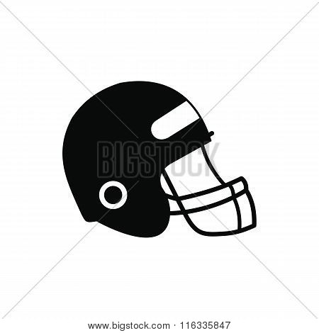 Football helmet with face mask icon
