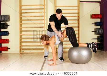 Fitness training with coach supervision