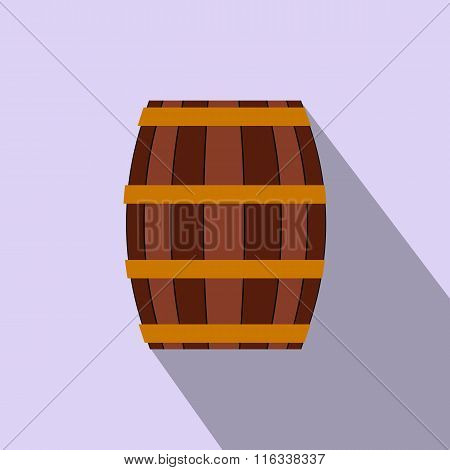Barrel with honey flat icon