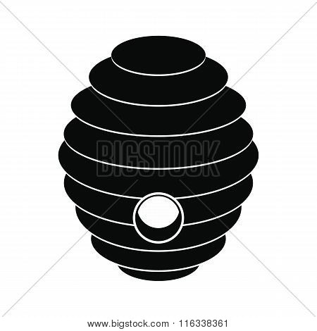 Bee hive black simple icon