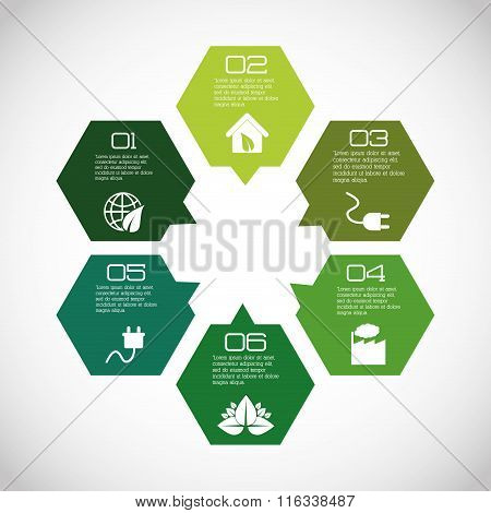 Business infographic with icons
