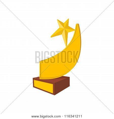 Golden comet star cartoon icon