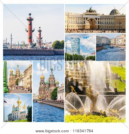 Collage of Saint-Petersburg, Russia