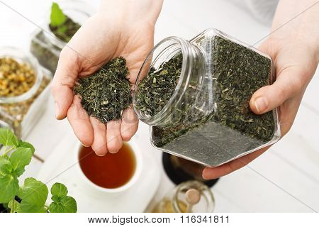 Herbal medicine, herbal tea. natural blend of herbs