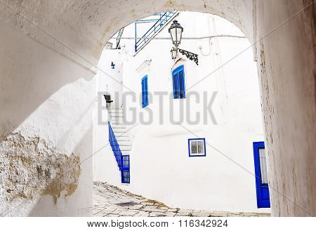 White Houses In Ostuni, Apulia, Italy