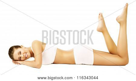 Woman Body Beauty Model White Underwear