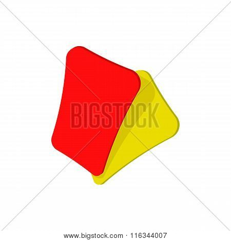 Red and yellow soccer card cartoon icon