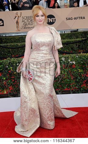 Christina Hendricks at the 22nd Annual Screen Actors Guild Awards held at the Shrine Auditorium in Los Angeles, USA on January 30, 2016.