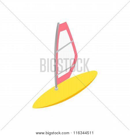 Windsurfing isometric 3d icon