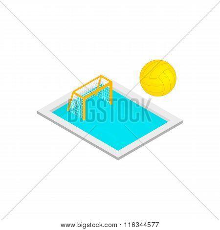 Pool handball isometric 3d icon