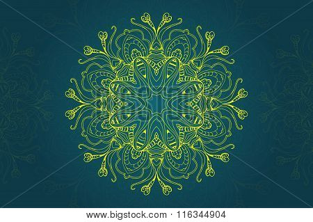 Mandala Abstract Design Element. Round Mandalas In Vector. Graphic Template For Your Design. Decorat