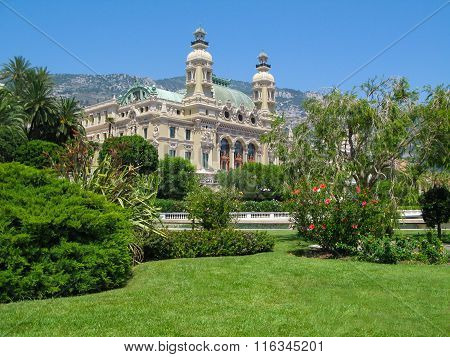 View from the seaside  to the  Monte Carlo Casino  , Monaco.