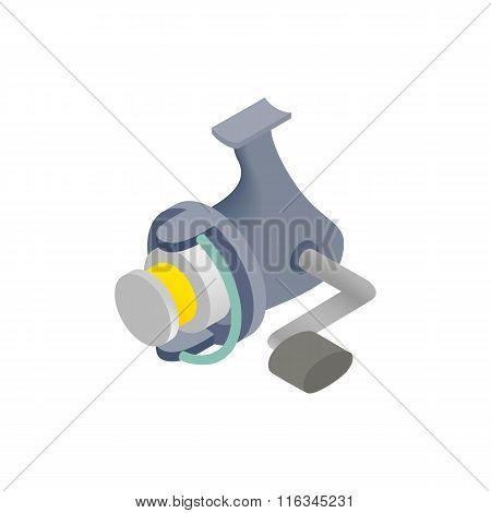 Fishing reel isometric 3d icon