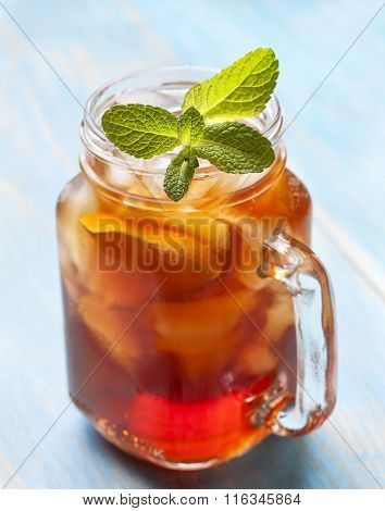 Ice Tea With Mint And Lemon