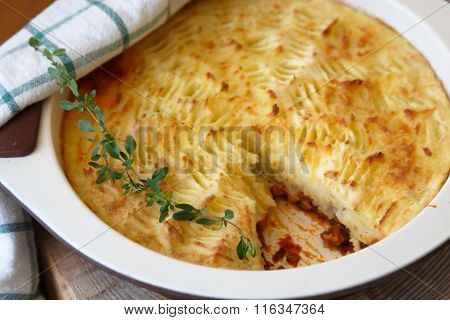 shepherds pie with missing piece