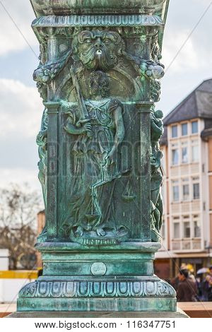 Iron Allegory At The Fountain Of Justice