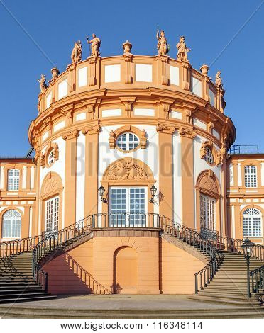 The palace of Wiesbaden Biebrich Germany from outside
