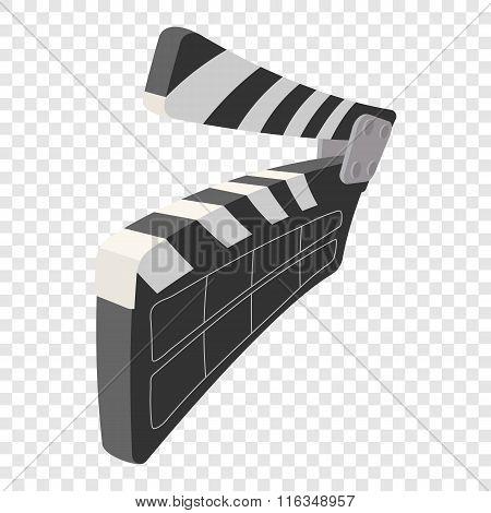 Clapperboard cinema cartoon icon