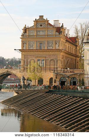 Prague, Czech Republic - April 18, 2010: Museum Dedicated To The Great Czech Composer Bedrich Smetan