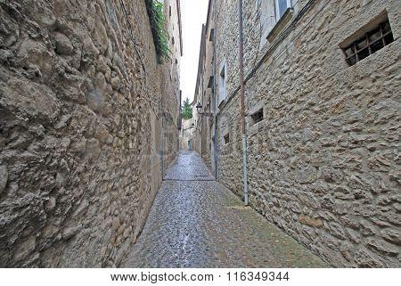 Jewish Quarter In Girona. Catalonia. Spain