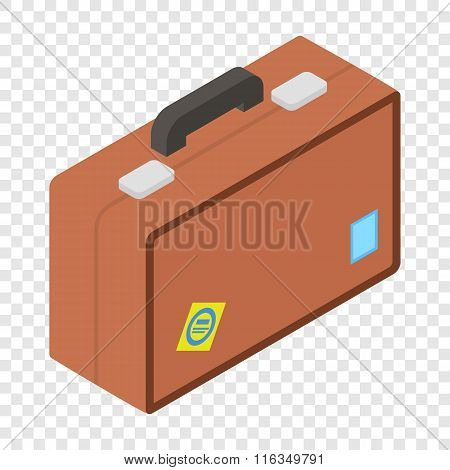 Tourist bag isometric 3d icon
