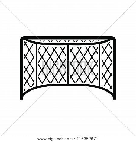 Hockey gates black simple icon