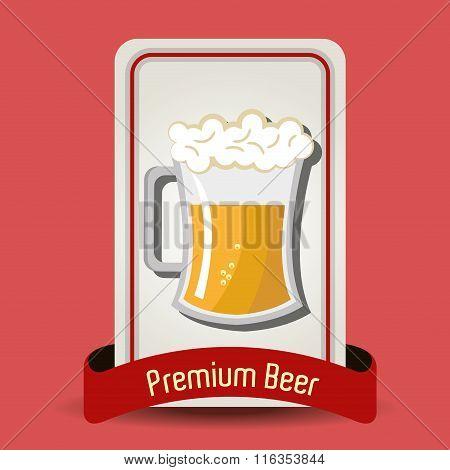 Premium beer graphic