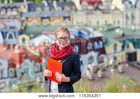 Portrait Of A Real Estate Agent Woman With Glasses