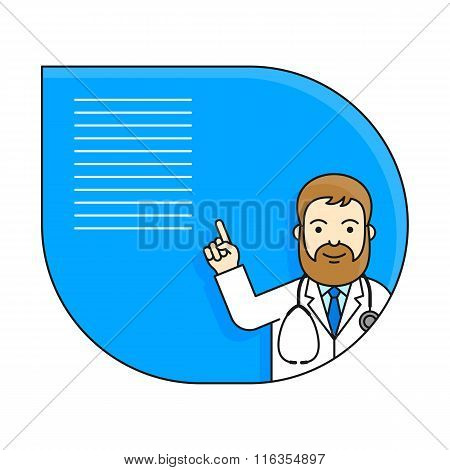 Doctor holding up his index finger