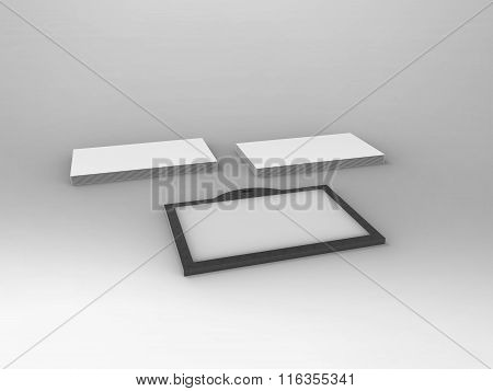 Branding Stationary 3D Render Business Card And Id Card