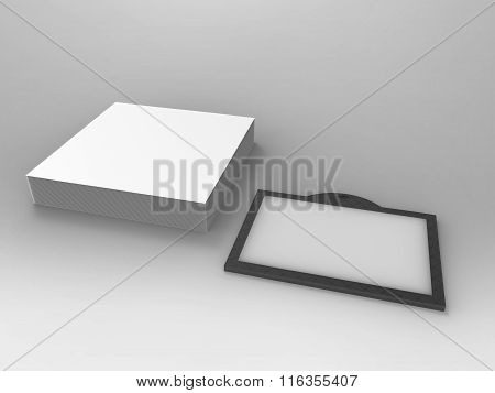 Branding Stationary 3D Render Id Card And Notes
