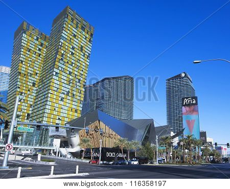 A Veer Towers, Cosmopolitan, Crystals, Aria Strip Shot