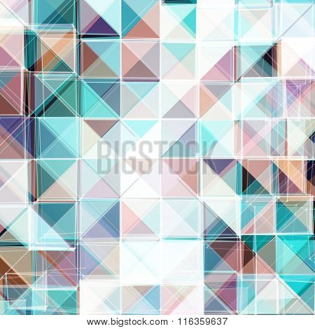 Abstract Colorful Mosaic Design   EPS10 Vector Illustration
