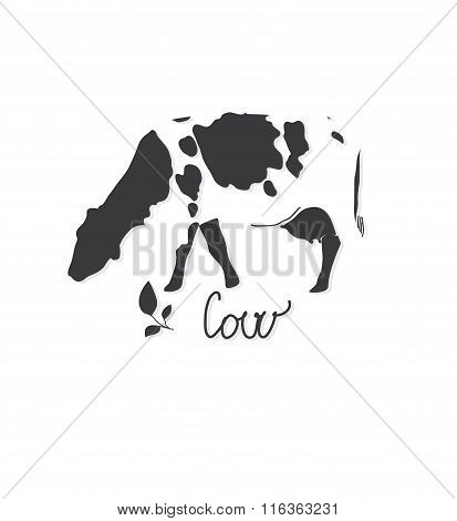 backgrounds with monochromatic pattern farm animal cow