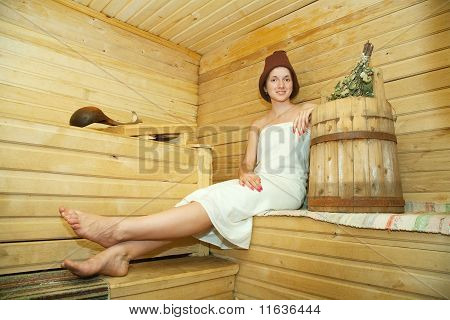 Girl Is Taking Steam-bath